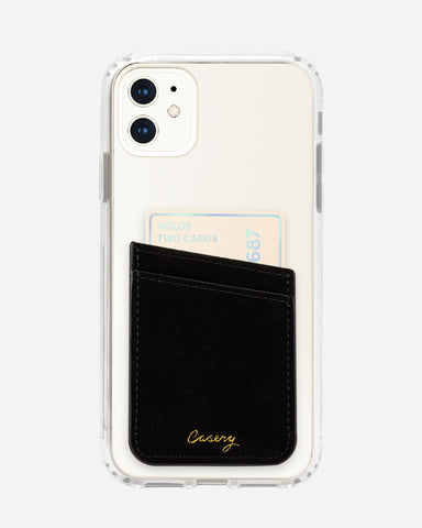 Phone Pocket Black Velvet Designer Case