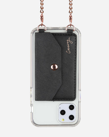 Crossbody Phone Pocket Black Designer Case