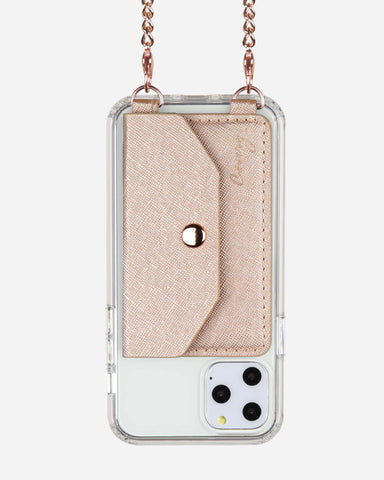 Crossbody Phone Pocket Rose Gold Designer Case