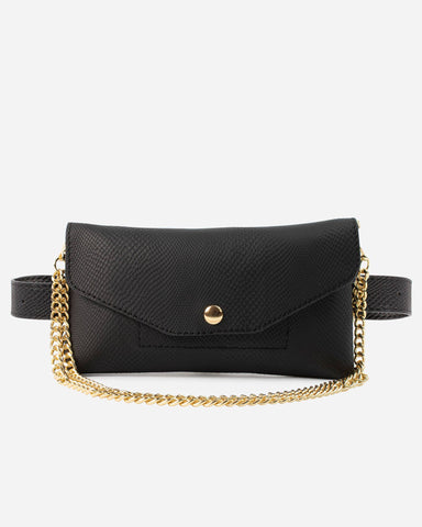 Convertible Fanny Pack Black Designer Case