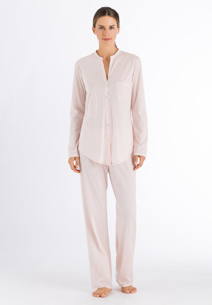Crystal Pink Cotton Deluxe Long Sleeve Pyjama