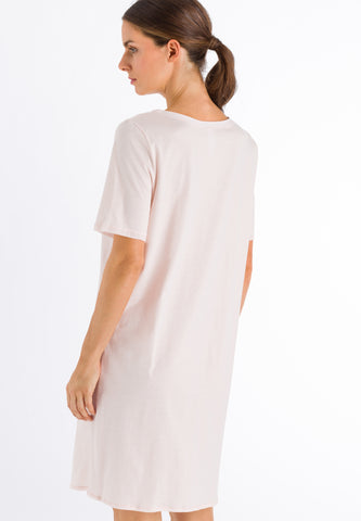 Crystal Pink Cotton Deluxe Short Sleeve Nightdress 90cm