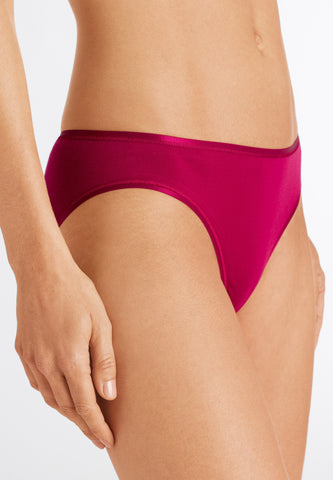 Cranberry Cotton Seamless Midi Brief