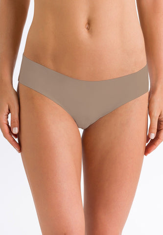 Cobblestone Invisible cotton midi briefs