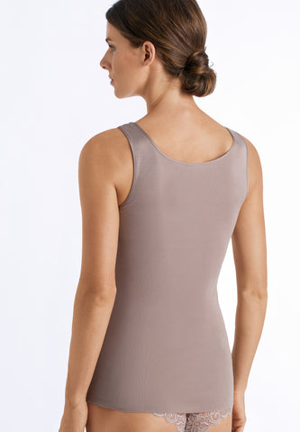 Cobblestone Cotton Seamless Top