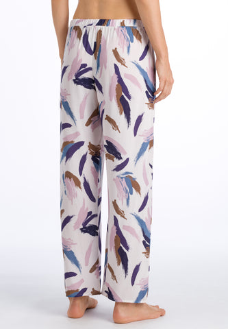 Abstract Brush Print Sleep & Lounge Long Pants