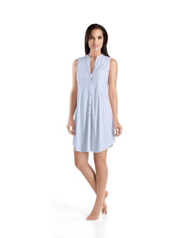 Blue Glow Cotton Deluxe Sleeveless Nightdress 90cm