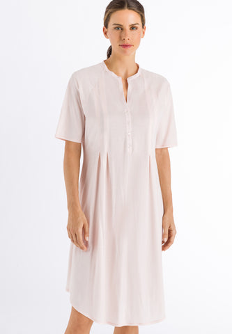 Crystal Pink Cotton Deluxe Short Sleeve Nightdress 100cm