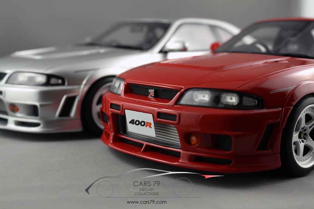 1/18 Nissan R33 400R in Red and Silver by Ottomobile