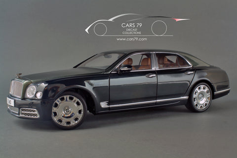 1/18 Bentley Mulsanne 2017 - Light Emerald over Midnight Emerald by Almost Real