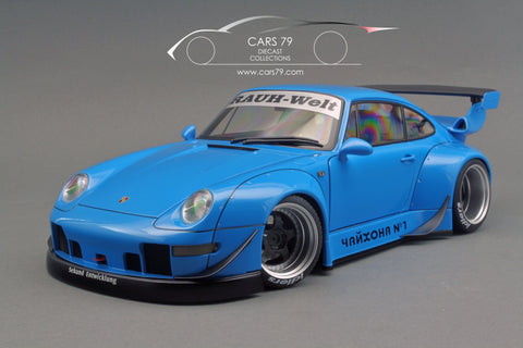 1/18 Porsche 993 RWB (Blue / Gun Grey Wheels)