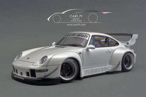 1/18 Porsche 993 RWB (White/ Gun Grey Wheels)