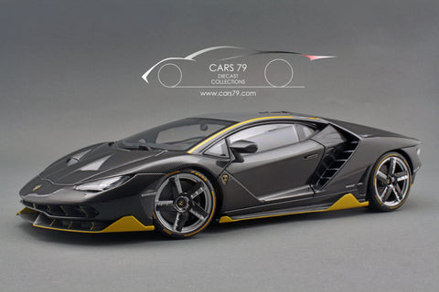 1/18 Lamborghini Centenario (Clear Carbon with Yellow accents) by AutoART (79114)