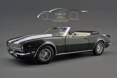 1/18 1968 Camaro Z28 Convertible - Fathom Green by ACME