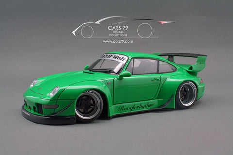 1/18 Porsche 993 RWB (Green/ Gun Grey Wheels)