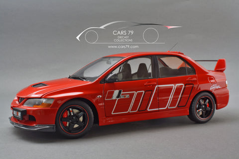 1/18 Mitsubishi Lancer Evolution IX GSR Rally Art (Red) by Super A