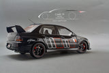 1/18 Mitsubishi Lancer Evolution IX GSR Rally Art (Black) by Super A