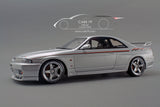 1/18 Skyline GT-R (R33) Late customized ver. Silver - by Ignition Model