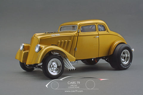 1/18 1933 Dirty Thirty Gasser - Metallic Gold by Acme Diecast (A1800914)