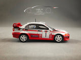 1/64  Mitsubishi Lancer Evolution V Sanremo Rally 1998 #1 Winner by Tarmac Works