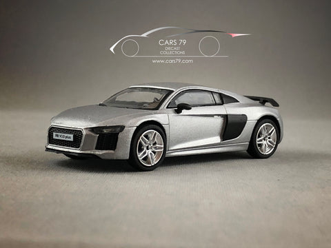 1/64 Audi R8 V10 Plus - Matt Silver by Tarmac Works