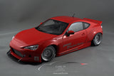1/18 ROCKET BUNNY TOYOTA 86 (RED/SILVER WHEELS)