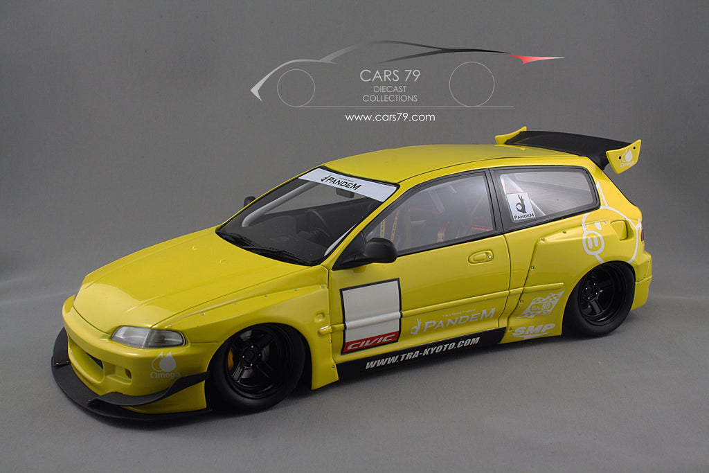 1 18 honda civic eg6 pandem yellow car 79 diecast collections. Black Bedroom Furniture Sets. Home Design Ideas