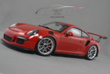 1/18 Porsche 911 GT3 RS - Guards Red with silver wheels by AutoART (78165)