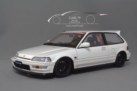1/18 Honda Civic SIR (EF9) White - Customized by Ignition Model