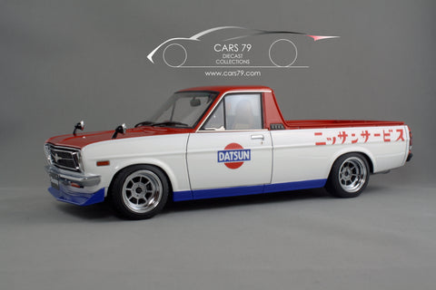 1/18 Sunny Truck Long (B121) Red/White by Ignition Model