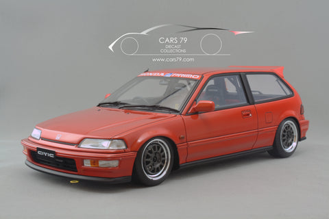 1/18 Honda Civic SIR (EF9) Red - Customized by Ignition Model