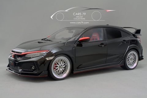 1/18 Honda Civic FK8 Type R - Black with BBS LM by Ignition Model