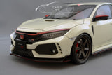1/18 Honda Civic FK8 Type R - White with TE-37 by Ignition Model