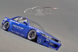 1/18 Rocket Bunny S13 V2 Metallic Blue by Ignition Model (IG1138)