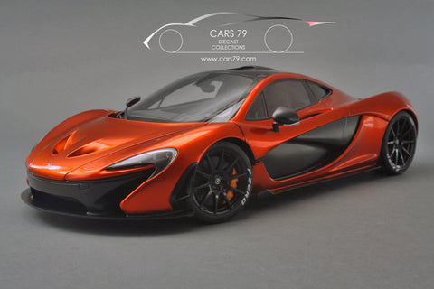 1/18 McLaren P1 (Volcano Orange) with orang calipers by AutoArt (76025)