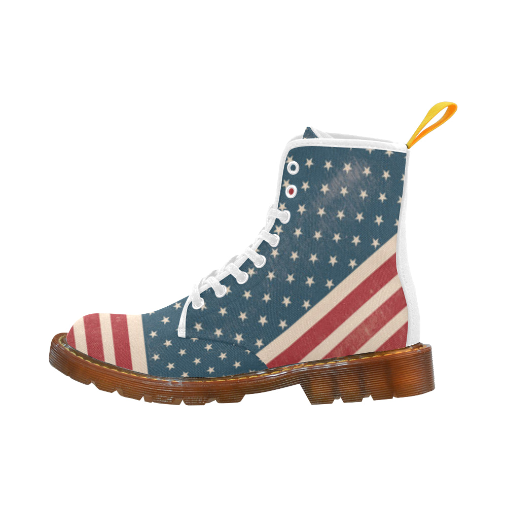 4th July V2 White Boots For Men - TeeAmazing