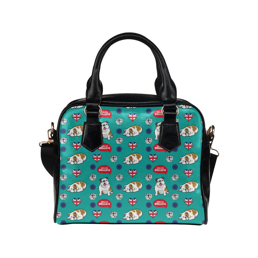 English Bulldog Shoulder Handbag - TeeAmazing