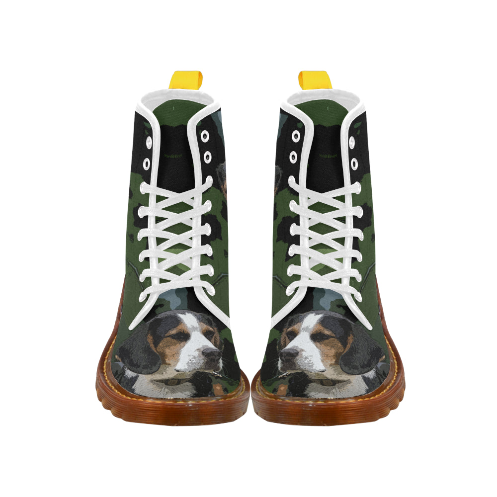 Beagle White Boots For Men - TeeAmazing