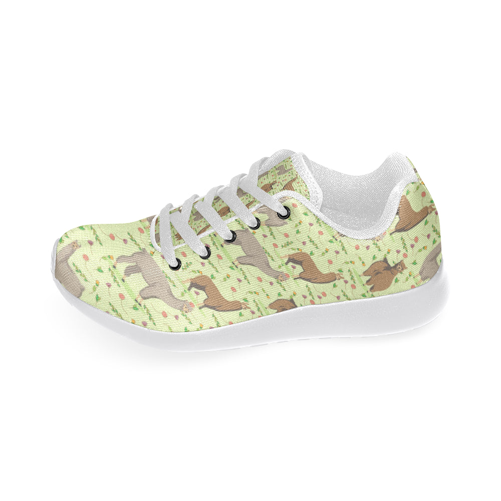 Llama White Sneakers Size 13-15 for Men - TeeAmazing