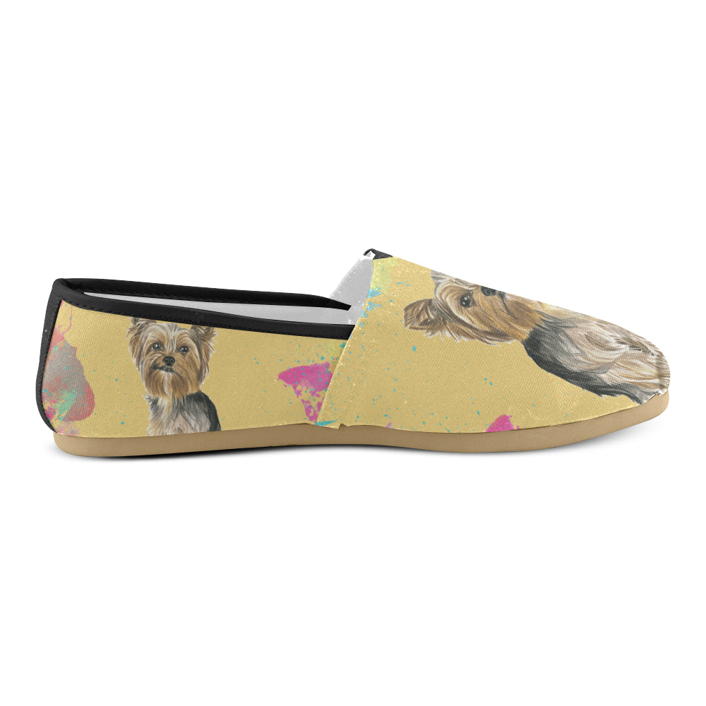 Yorkshire Terrier Water Colour No.1 Women's Casual Shoes - TeeAmazing