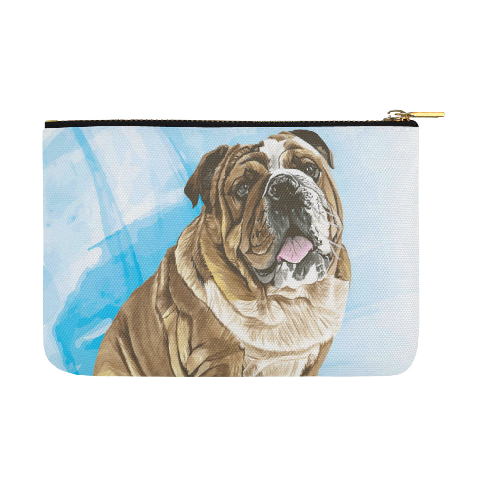 English Bulldog Water Colour No.1 Carry-All Pouch 12.5x8.5 - TeeAmazing