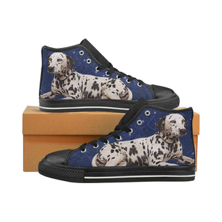 Dalmatian Lover Black High Top Canvas Shoes for Kid - TeeAmazing
