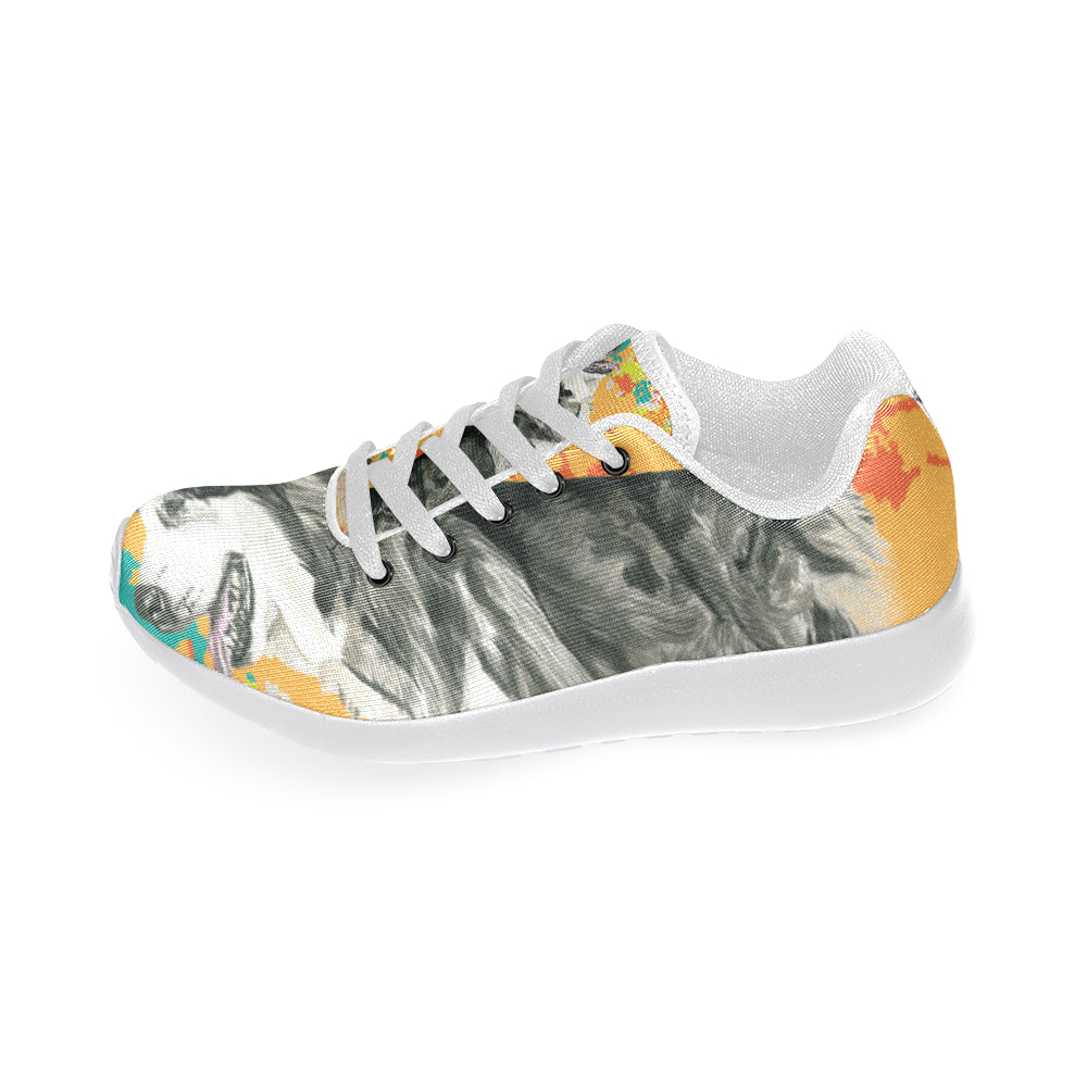 Alaskan Malamute Water Colour No.2 White Sneakers Size 13-15 for Men - TeeAmazing