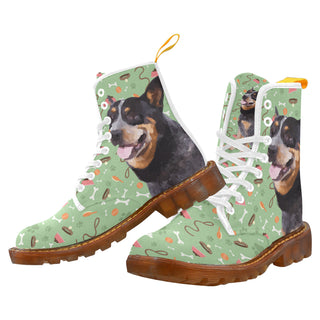 Australian Cattle Dog White Boots For Women - TeeAmazing