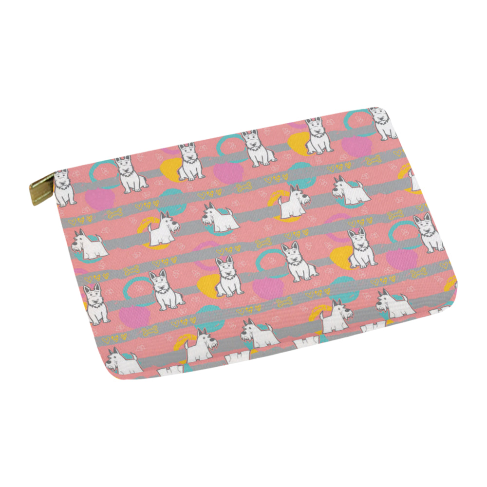 Scottish Terrier Pattern Carry-All Pouch 12.5''x8.5'' - TeeAmazing