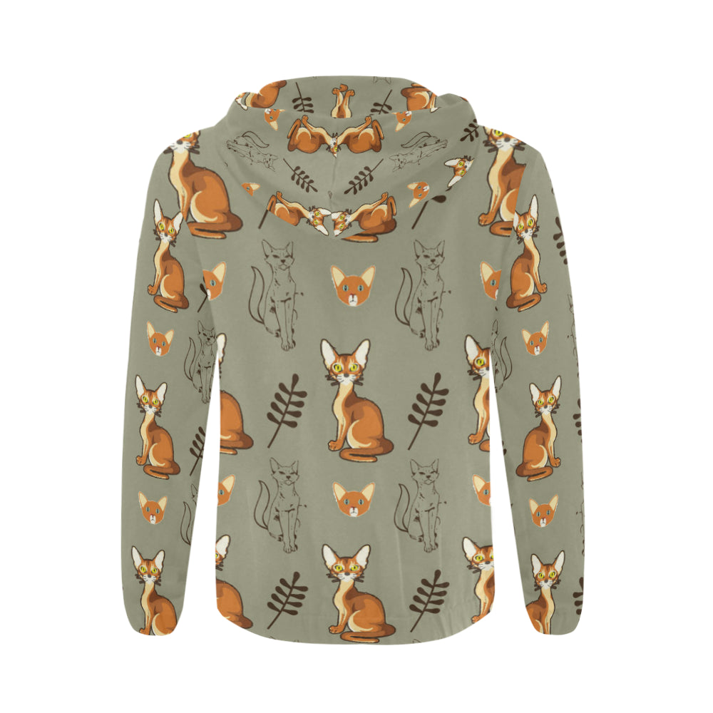 Abyssinian All Over Print Full Zip Hoodie for Men - TeeAmazing