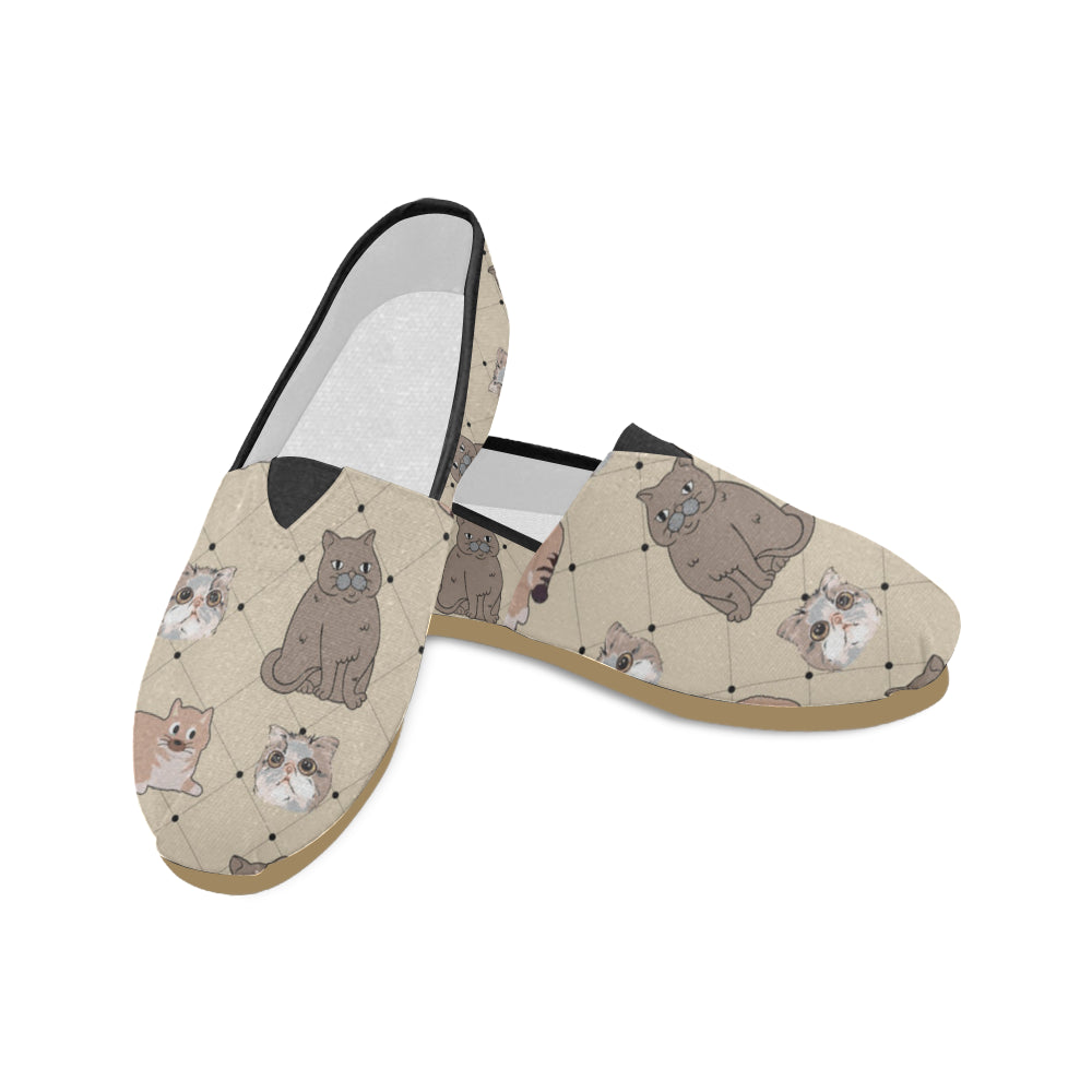 Exotic Shorthair Women's Casual Shoes (Model 004) - TeeAmazing