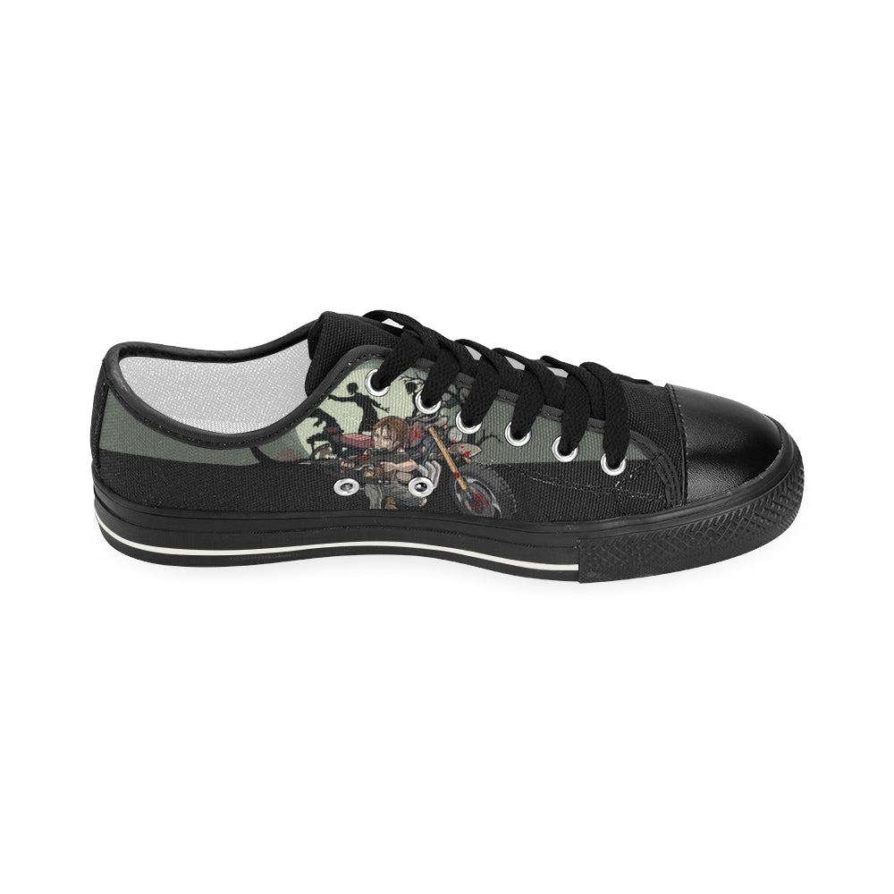 Daryl Dixon Black Women's Classic Canvas Shoes - TeeAmazing