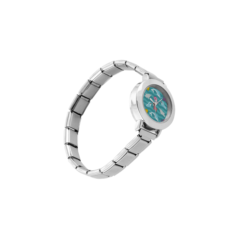 Dolphin Women's Italian Charm Watch - TeeAmazing