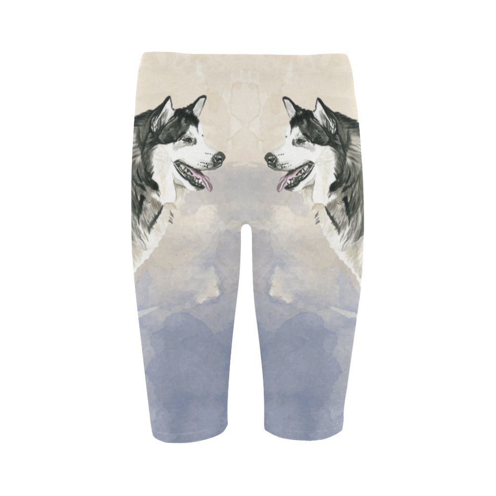 Alaskan Malamute Water Colour Hestia Cropped Leggings - TeeAmazing